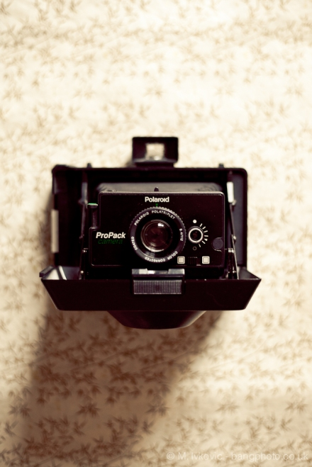 Polaroid pro pack camera