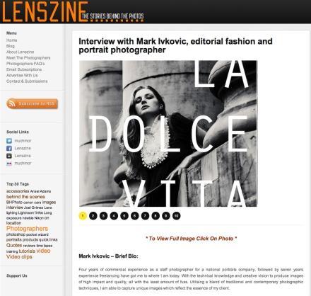 Interview on Lenszine