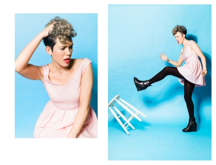 double page editorial fashion story